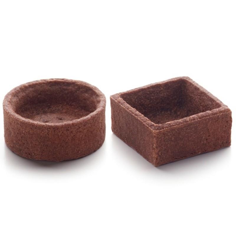 Assortiment de mini trendy ronds et carrés choco 4 cm-22