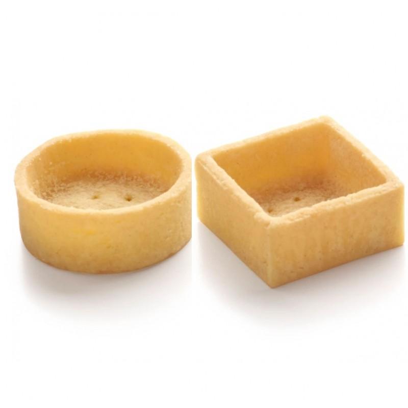 Assortiment de mini trendy ronds et carrés au beurre 4 cm-22
