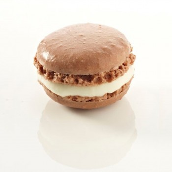 Mini macaron couleur chocolat 3,5 cm