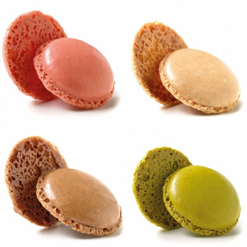 Assortiment van mini macarons in 4 kleuren 3,5 cm-35