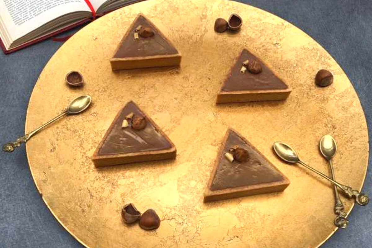 Tartelette triangle praliné chocolat
