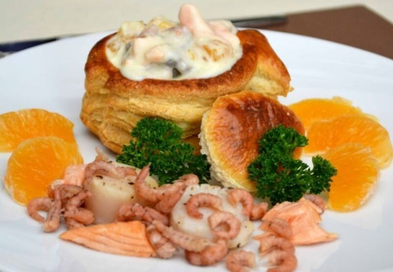 Bouchée feuiletée poisson de la mer aux clémentines