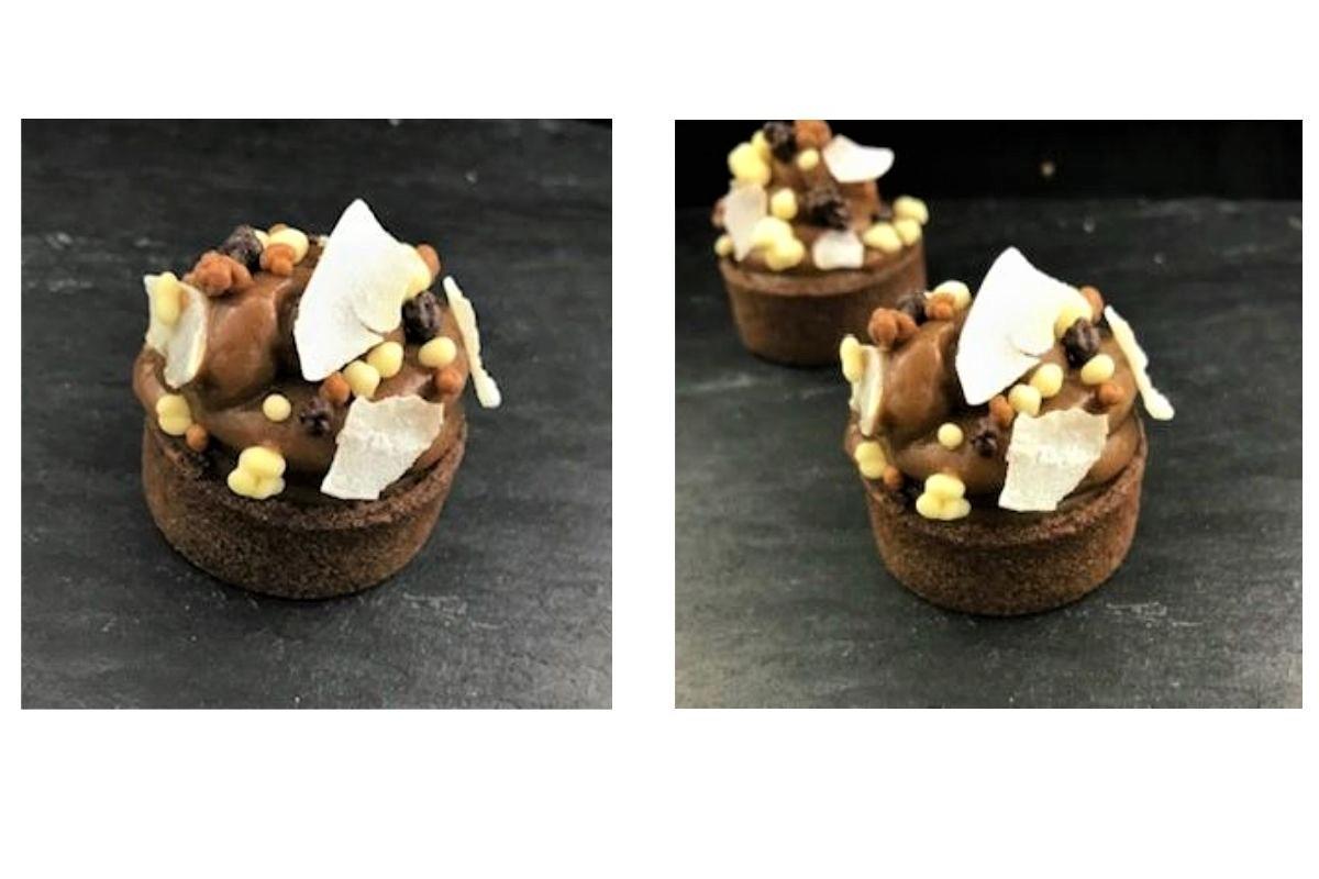 Mini tartelette chocolat à la noix de coco