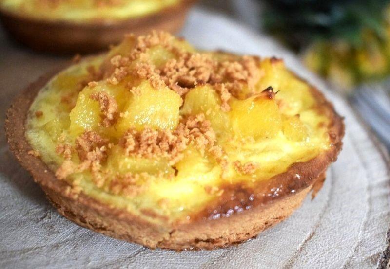 Tartelette sablée ananas et spéculoos