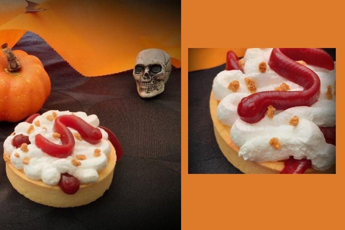 Tartelette d'Halloween au lemon curd