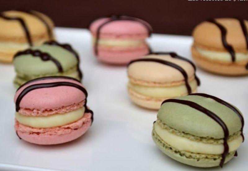 Assortiment de Macarons à la ganache de chocolat blanc et limoncello