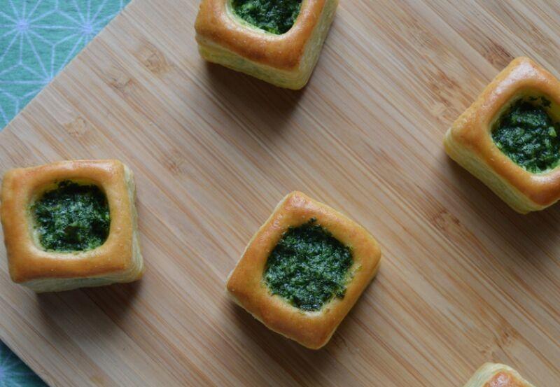 Mini Bouchée feuilletée au beurre persillé