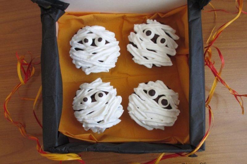 Recette d'Halloween, petites  monies au chocolat
