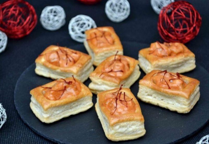 Mini longo à la noix de saint jacques, paprika et cognac
