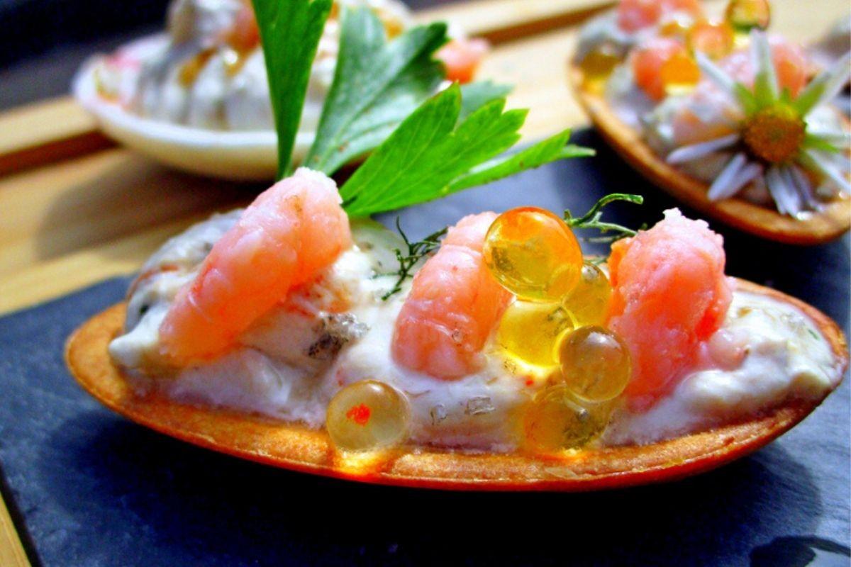 Fine coquille au beurre aux délices de la mer