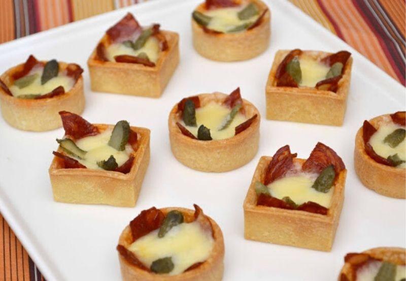 Mini trendy au fromage à raclette et chorizo