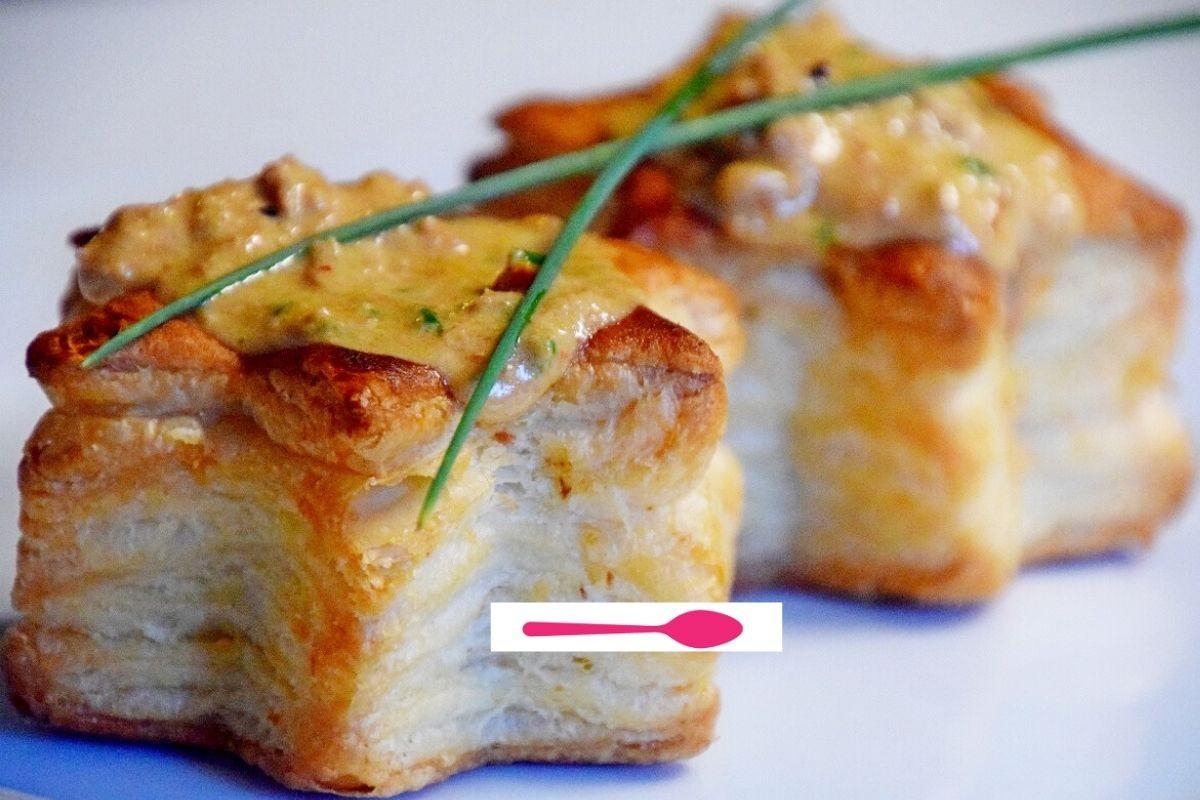 Etoile feuilletée  à la crème de rilettes de poulet rôti