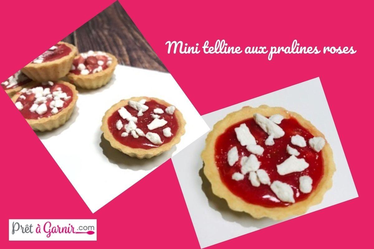 Mini telline aux pralines roses